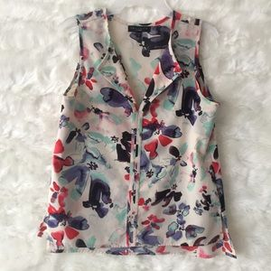 Sanctuary abstract print top Small